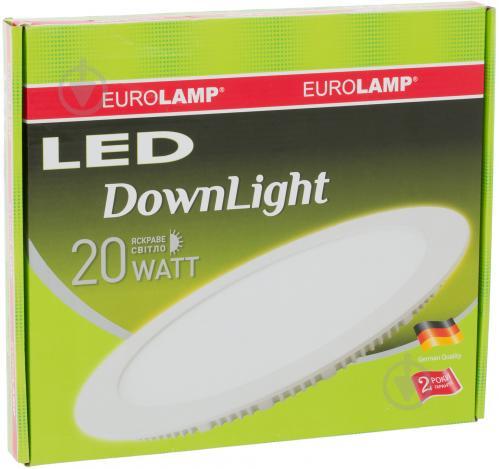 Світильник вбудовуваний (Downlight) Eurolamp 20 Вт 4000 К білий матовий LED-DLR-20/4 - фото 3