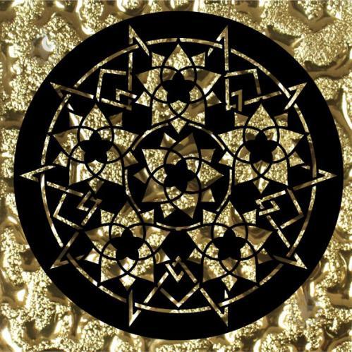 Плитка Grand Kerama Тако скло Сад золото рифлене 2055 8x8 - фото 1