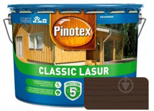 Деревозащитное средство Pinotex Classic Lasur орех мат 10 л - фото 1