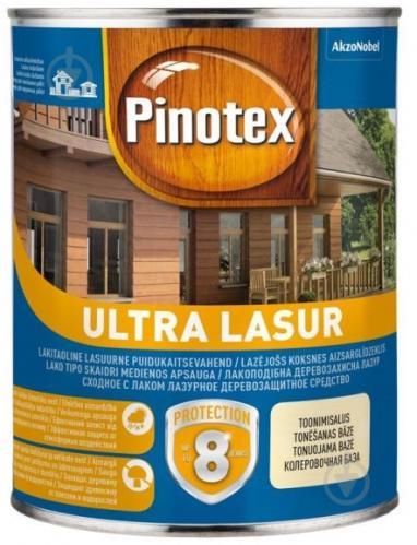 Деревозащитное средство Pinotex Ultra Lasur безцветный глянец 1 л - фото 1