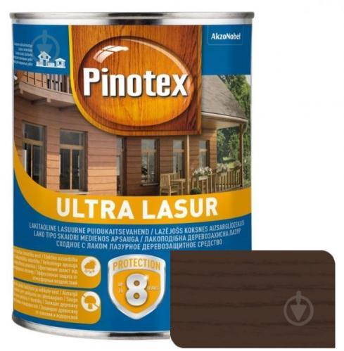 Деревозащитное средство Pinotex Ultra Lasur орех глянец 1 л - фото 1