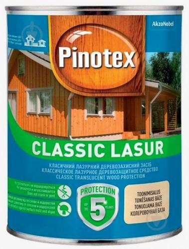 Деревозащитное средство Pinotex Classic Lasur бесцветный мат 1 л - фото 1