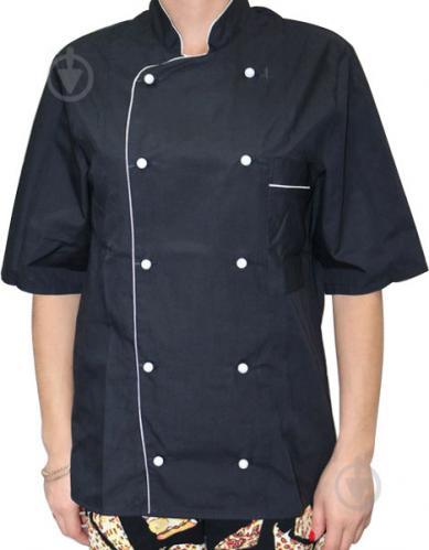 89e58ddb087de2 Кітель кухаря Lux-Form P01411 класичний з коротким рукавом р. 44 чорний