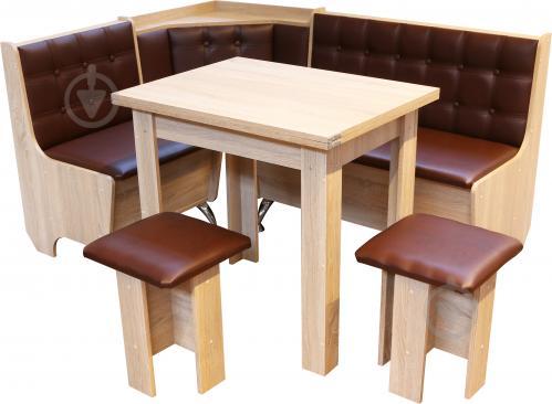 Куточок кухонний Маршал 1205х1605х840 мм дуб сонома коричневий - фото 1