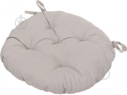 Подушка на стілець Шато d40 см горошок світло-коричневий La Nuit - фото 2