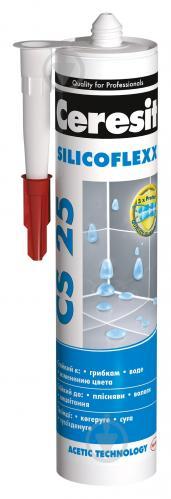 Герметик силиконовый Ceresit санитарный CS25 белый 280 мл - фото 1