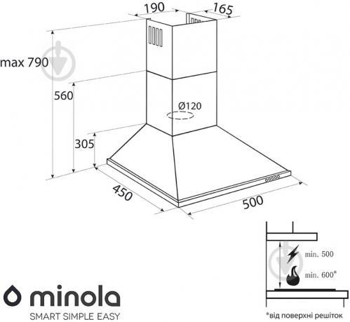 Вытяжка Minola HK 5210 BL 650 - фото 7