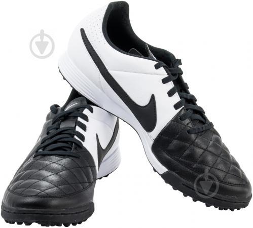 e2d4e847940a Футбольные бутсы Nike Tiempo Genio Leather 631284-010 р. 6.5 черный с белым