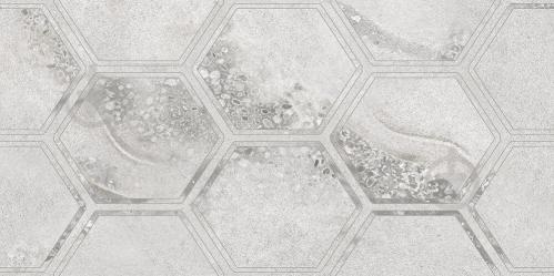 Плитка Golden Tile Fusion Hexagon сірий 11215 30х60 - фото 1