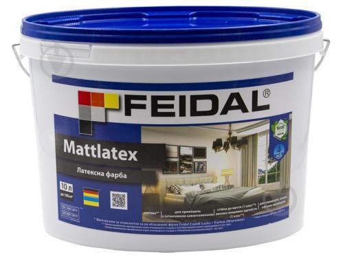 Фарба латексна Feidal Mattlatex мат білий 10л - фото 1