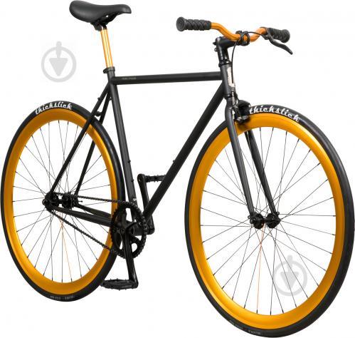Велосипед Pure Fix India чорно-золотистий рама - 53 см - фото 2