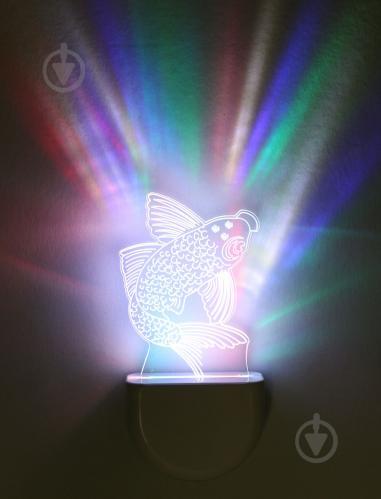 Нічник Aukes Рибка 3D LED RGB 0.5 Вт білий - фото 1