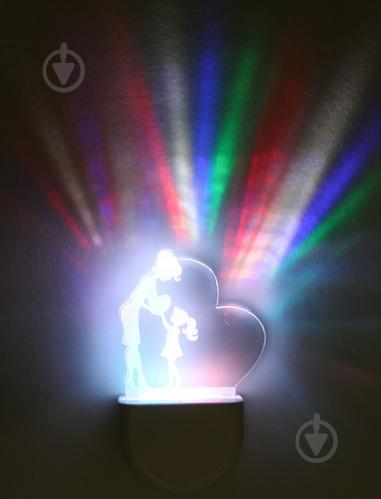 Нічник Aukes ES602 Дитинство 3D LED RGB 0.5 Вт білий - фото 1