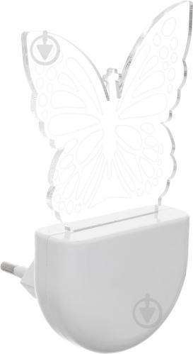 Ночник Aukes Бабочка 3D LED RGB 0.5 Вт белый - фото 2