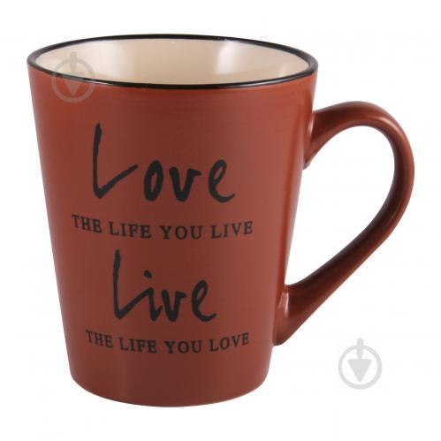 Чашка Love&Live Brown джамбо 410 мл M0420-K142BR Milika - фото 1