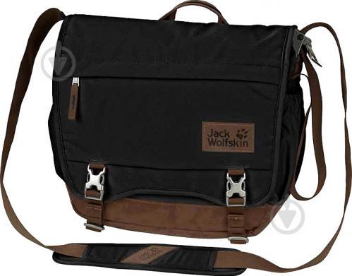 3aabdc276fad Сумка Jack Wolfskin Camden Town 2003312-6000 черный с коричневой вставкой