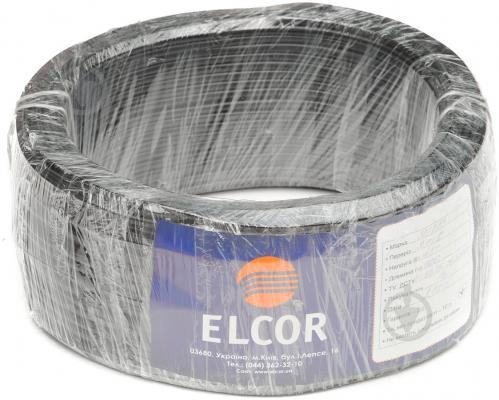 Провід багатожильний  Елкор ШВВП 2x1,0 чорний - фото 2