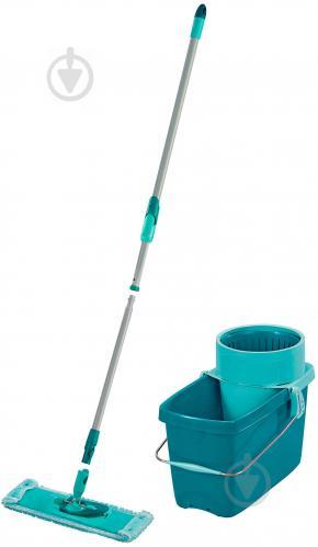 Комплект швабра и ведро с автоматическим отжимом для пола Leifheit Clean Twist Evo (52014) 33 см - фото 1