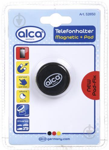 Тримач для телефона магнітний мульти кріплення Alca 528150 чорний - фото 1