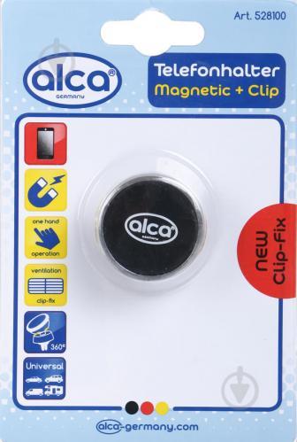 Тримач для телефона магнітний на дефлектор Alca 528100 чорний - фото 1