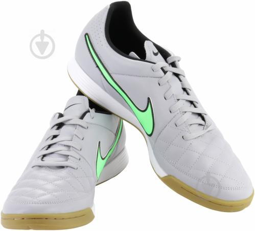 Футбольные бутсы Nike Tiempo Genio Leather IC 631283-030 р. 9 серый