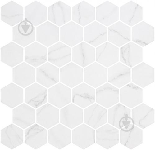Плитка Onix Hex XL Venato White Matte (BLISTER) 28,6x28,4 - фото 1