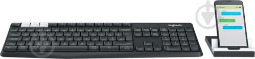 Клавіатура Logitech K375s Multi-Device Wireless Keyboard and Stand Combo - G (920-008184) black - фото 1