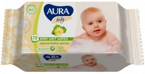 Детские влажные салфетки Aura Baby 72 шт. - фото 1