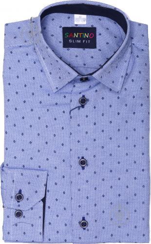 Рубашка детская Легпромторг 21548 р.140 голубой с принтом - фото 1