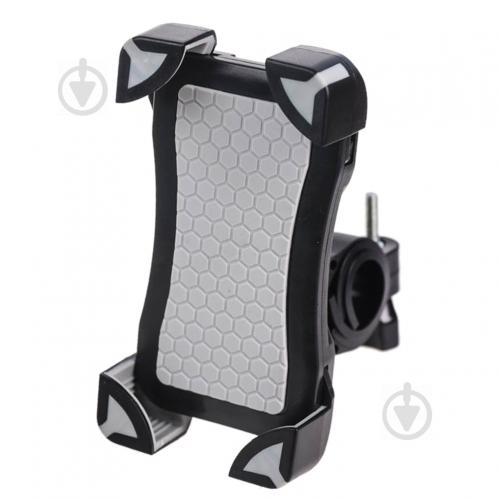 Велотримач для телефону PULSO UH-1010BK/GY чорний із сірим - фото 1