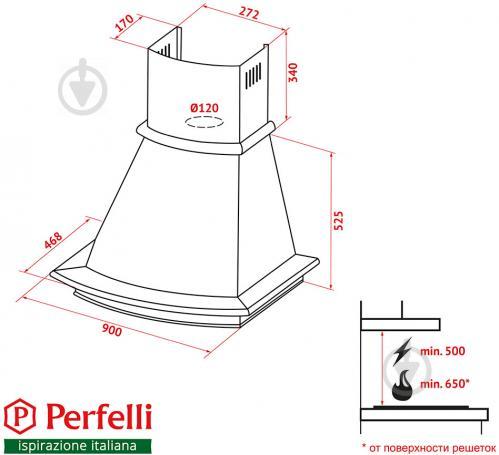 Витяжка Perfelli K 9622 C IV 1000 COUNTRY LED - фото 11
