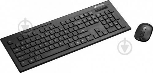 Комплект клавіатура та миша Canyon (CNS-HSETW4-RU) black - фото 1