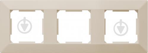 Рамка тримісна HausMark Alta універсальна кремовий SNG-FRP.SQ20G3-CR - фото 1