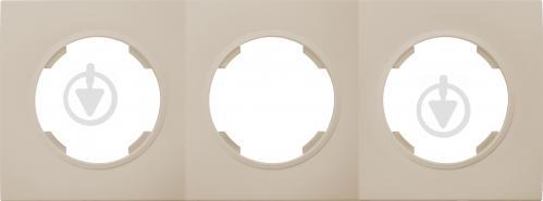 Рамка тримісна HausMark Bela універсальна кремовий SNG-FRP.RD20G3-CR - фото 1