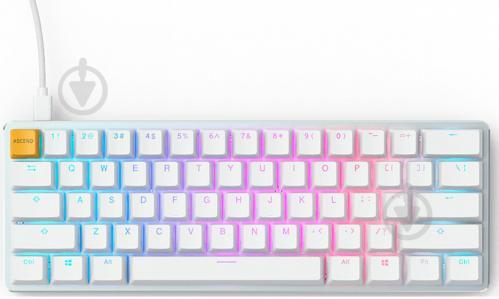 Клавиатура GLORIOUS GMMK Compact Gateron (GLO-GMMK-COM-BRN-W) white - фото 1