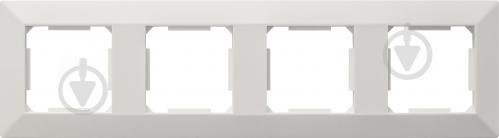 Рамка чотиримісна HausMark Alta універсальна білий SNG-FRP.SQ20G4-WH - фото 1