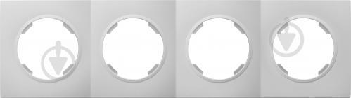 Рамка четырехместная HausMark Bela универсальная белый SNG-FRP.RD20G4-WH