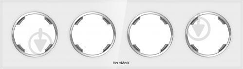 Рамка четырехместная HausMark Bela универсальная белое стекло SNG-FRG.RD20G4-WH