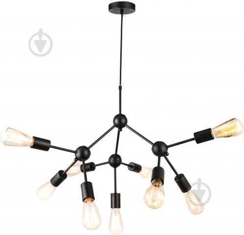 Люстра стельова Accento lighting 9x40 Вт E27 чорний