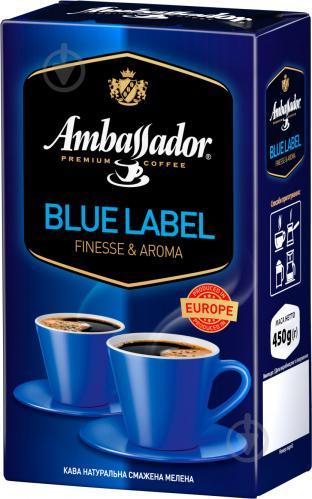Кофе молотый Ambassador Blue Label 450 г (8719325127423) - фото 1