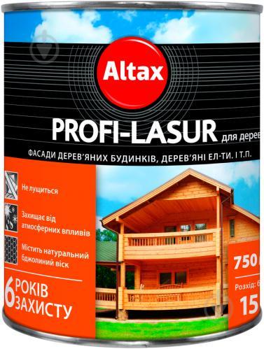 Лазурь Altax Profi-Lasur бесцветный шелковистый мат 0,75 л - фото 1