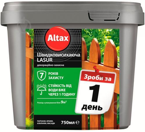 Лазурь быстросохнущая Altax Lasur декоративно-защитная тик полумат 0,75 л - фото 2