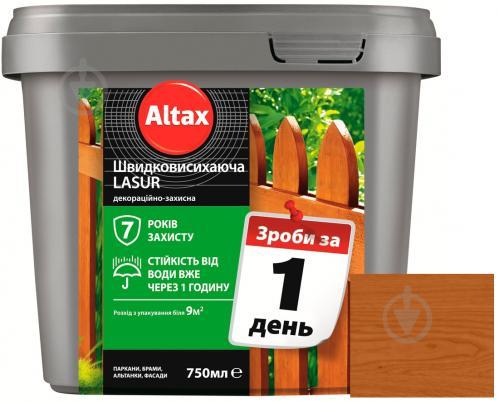 Лазурь быстросохнущая Altax Lasur декоративно-защитная тик полумат 0,75 л - фото 1