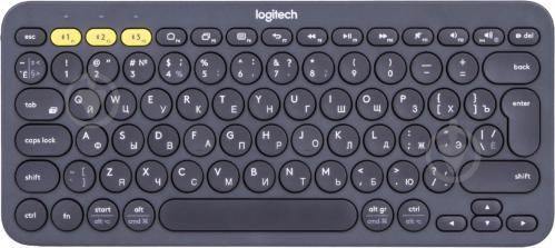 Клавіатура Logitech Multi-Device K380 BT Ru (920-007584) black - фото 1