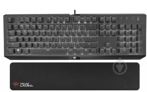 Підставка під зап'ястя Trust GXT 766 Flide Keyboard wrist pad (21978) black - фото 1