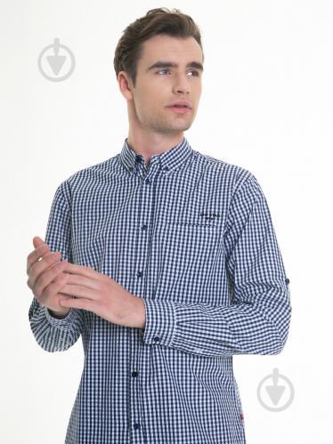 Рубашка BigStar VIK 141599490 р. 3XL темно-синий - фото 1