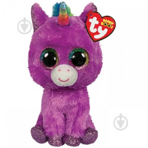 Мягкая игрушка TY Beanie Boo's Сиреневый единорог Rosette 15 см 36328 - фото 1