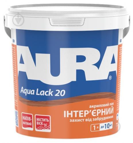 Лак интерьерный Aqua Lack 20 Aura® полумат 1 л - фото 1
