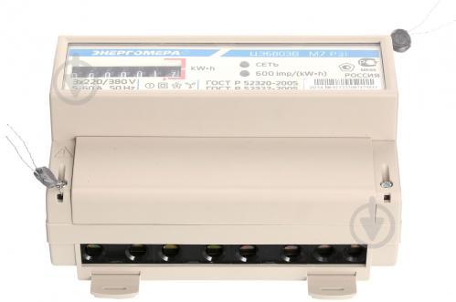 Счетчик электроэнергии трехфазный  Энергомера 220 В 10-100 А 1Т М7 электронный ЦЭ 6803ВМ Р31 - фото 4