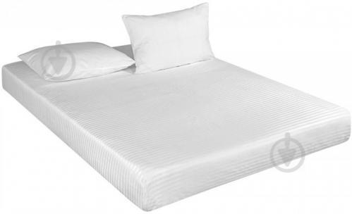 Простынь на резинке Сатин-страйп white на резинке (gdsswsheetf140190) 140x190 см белый Good-Dream - фото 1